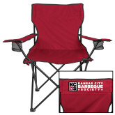 Deluxe Cardinal Captains Chair-Kansas City Barbeque Society Flat