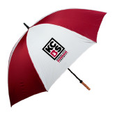62 Inch Cardinal/White Umbrella-Kansas City Barbeque Society