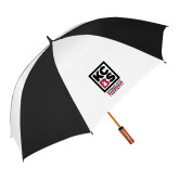 62 Inch Black/White Umbrella-Kansas City Barbeque Society