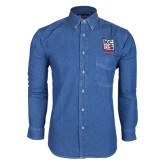 Kansas City Barbeque Society Denim Shirt Long Sleeve-