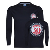 Kansas City Barbeque Society Black Long Sleeve T Shirt 30 Yr Anniv-