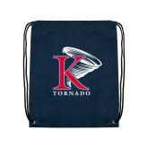 Navy Drawstring Backpack-K Tornado w/Tornado