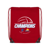 Red Drawstring Backpack-2018 Mens Volleyball Champions