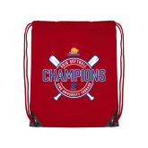 Red Drawstring Backpack-2018 Softball Champions