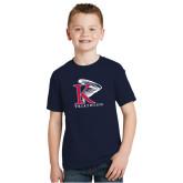 Youth Navy T Shirt-Triathlon Vertical