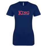Next Level Ladies SoftStyle Junior Fitted Navy Tee-King Tornado