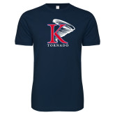 Next Level SoftStyle Navy T Shirt-K Tornado w/Tornado