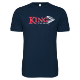 Next Level SoftStyle Navy T Shirt-King Tornado w/Tornado