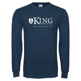 Navy Long Sleeve T Shirt-King University