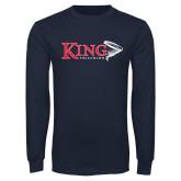 Navy Long Sleeve T Shirt-Triathlon