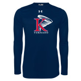 Under Armour Navy Long Sleeve Tech Tee-K Tornado w/Tornado