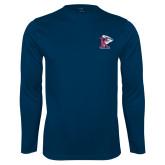 Syntrel Performance Navy Longsleeve Shirt-K Tornado w/Tornado
