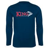 Performance Navy Longsleeve Shirt-Bass Fishing