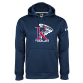 Under Armour Navy Performance Sweats Team Hoodie-K Tornado w/Tornado