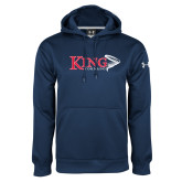 Under Armour Navy Performance Sweats Team Hoodie-King Tornado w/Tornado