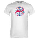 White T Shirt-2018 Mens Basketball Champions