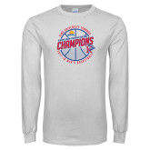 White Long Sleeve T Shirt-2018 Mens Basketball Champions