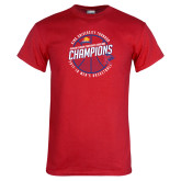 Red T Shirt-2018 Mens Basketball Champions