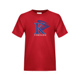 Youth Red T Shirt-K Tornado w/Tornado