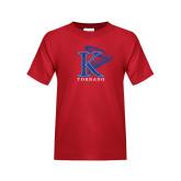Youth Red T Shirt-K Tornado w/Tornado