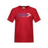 Youth Red T Shirt-King Tornado w/Tornado