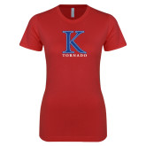 Next Level Ladies SoftStyle Junior Fitted Red Tee-K Tornado
