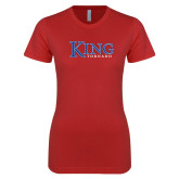 Next Level Ladies SoftStyle Junior Fitted Red Tee-King Tornado