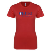 Next Level Ladies SoftStyle Junior Fitted Red Tee-King University