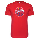 Next Level SoftStyle Red T Shirt-2018 Mens Basketball Champions