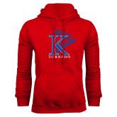 Red Fleece Hoodie-K Tornado w/Tornado