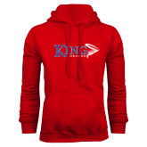 Red Fleece Hoodie-King Tornado w/Tornado