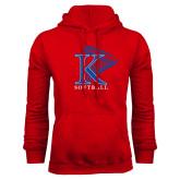 Red Fleece Hoodie-Softball