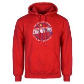 Red Fleece Hoodie-2018 Mens Basketball Champions