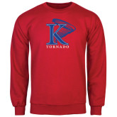 Red Fleece Crew-K Tornado w/Tornado