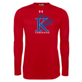 Under Armour Red Long Sleeve Tech Tee-K Tornado w/Tornado