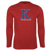 Syntrel Performance Red Longsleeve Shirt-K Tornado