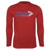 Performance Red Longsleeve Shirt-Triathlon