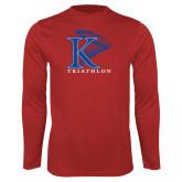 Performance Red Longsleeve Shirt-Triathlon Vertical