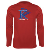 Performance Red Longsleeve Shirt-ESports Vertical