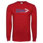 Red Long Sleeve T Shirt-King Tornado w/Tornado