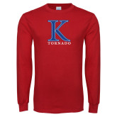 Red Long Sleeve T Shirt-K Tornado