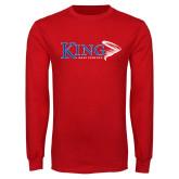 Red Long Sleeve T Shirt-Bass Fishing
