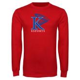 Red Long Sleeve T Shirt-ESports Vertical