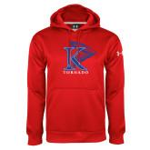 Under Armour Red Performance Sweats Team Hoodie-K Tornado w/Tornado
