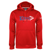 Under Armour Red Performance Sweats Team Hoodie-King Tornado w/Tornado
