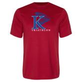 Performance Red Tee-Triathlon Vertical