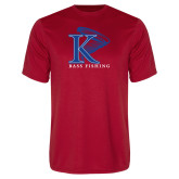 Performance Red Tee-Bass Fishing Vertical
