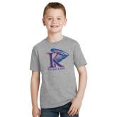 Youth Grey T-Shirt-K Tornado w/Tornado