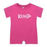 Bubble Gum Pink Infant Romper-King Tornado w/Tornado