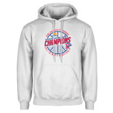 White Fleece Hoodie-2018 Mens Basketball Champions